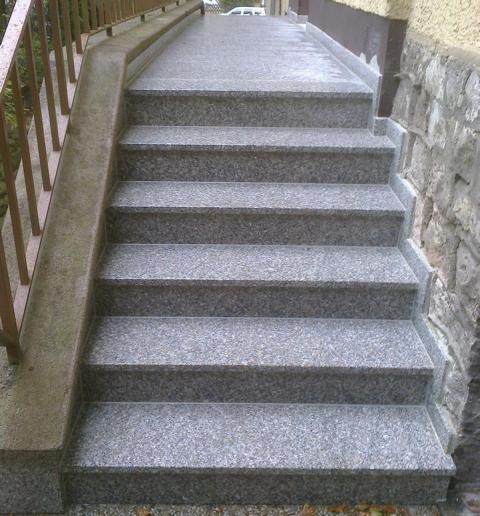 Geschlossene Treppen gerade treppen