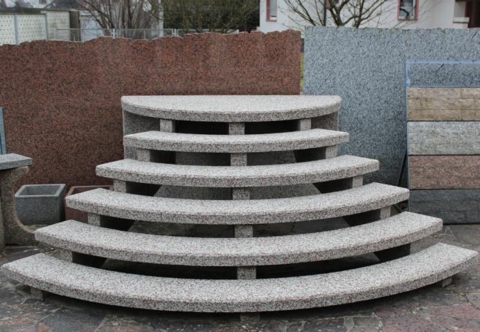 Beliebt Außentreppen aus Granit oder Waschbeton WN35